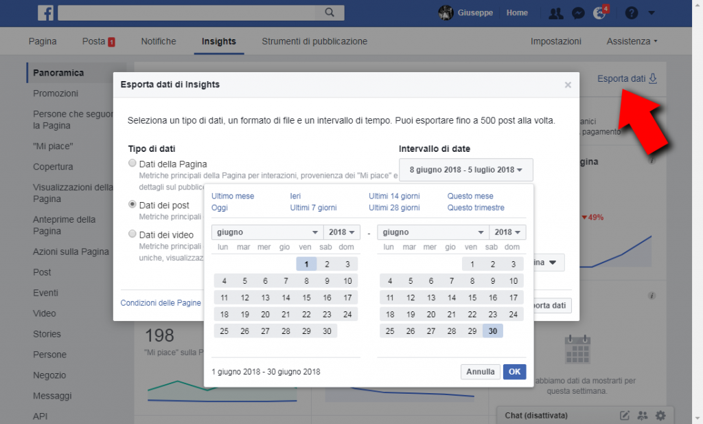 facebook insights download